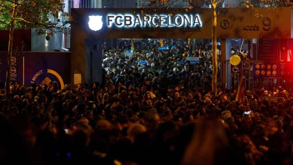 Los accesos al Camp Nou antes de El Clásico