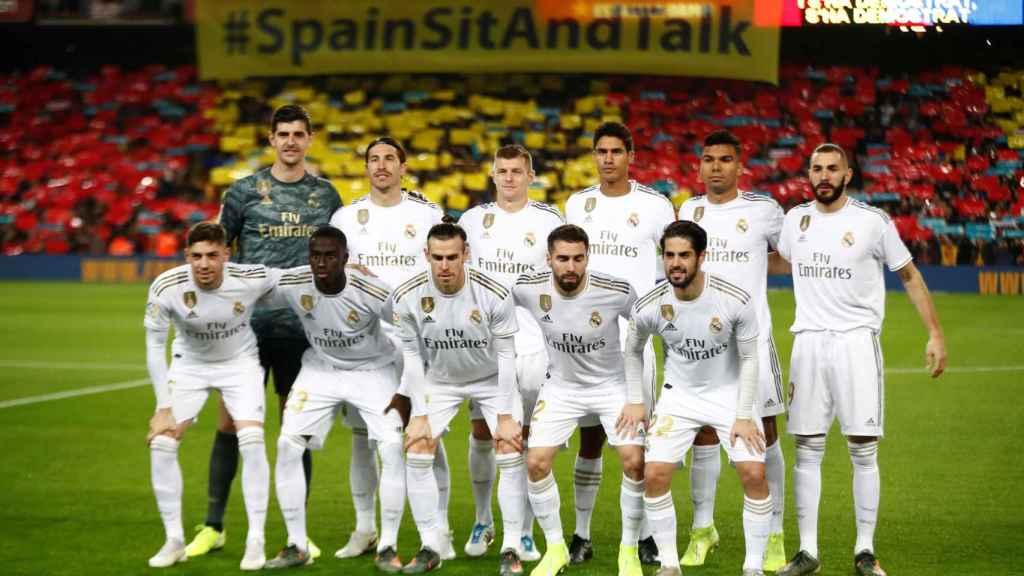 La alineación del Real Madrid en El Clásico