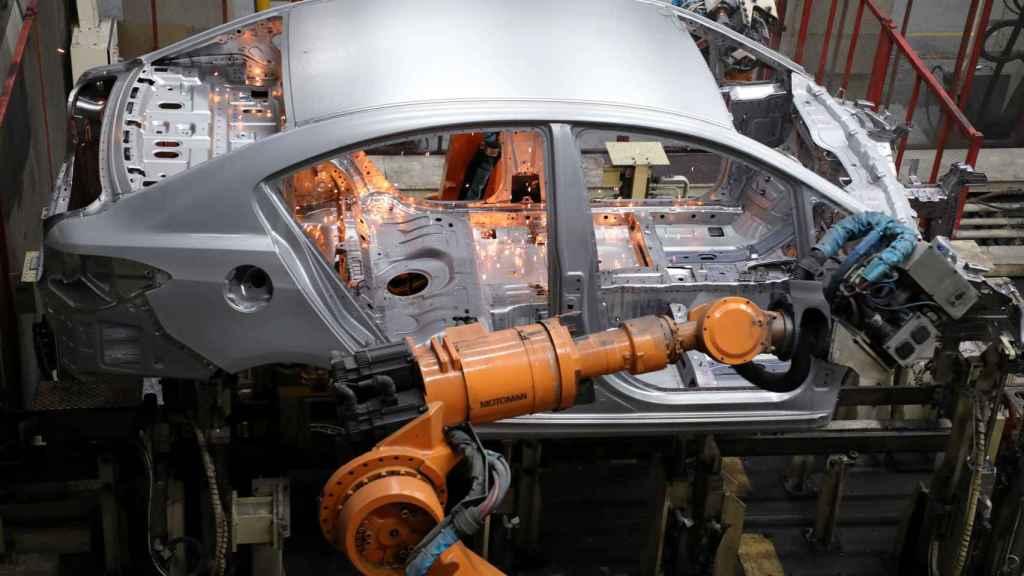 Robot en cadena de montaje
