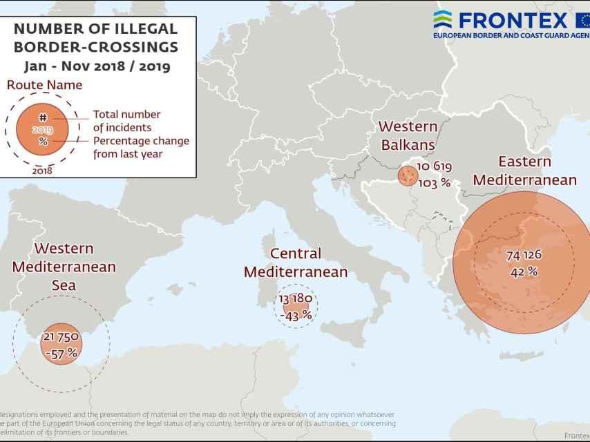 Principales flujos de inmigración hacia Europa, en cifras.