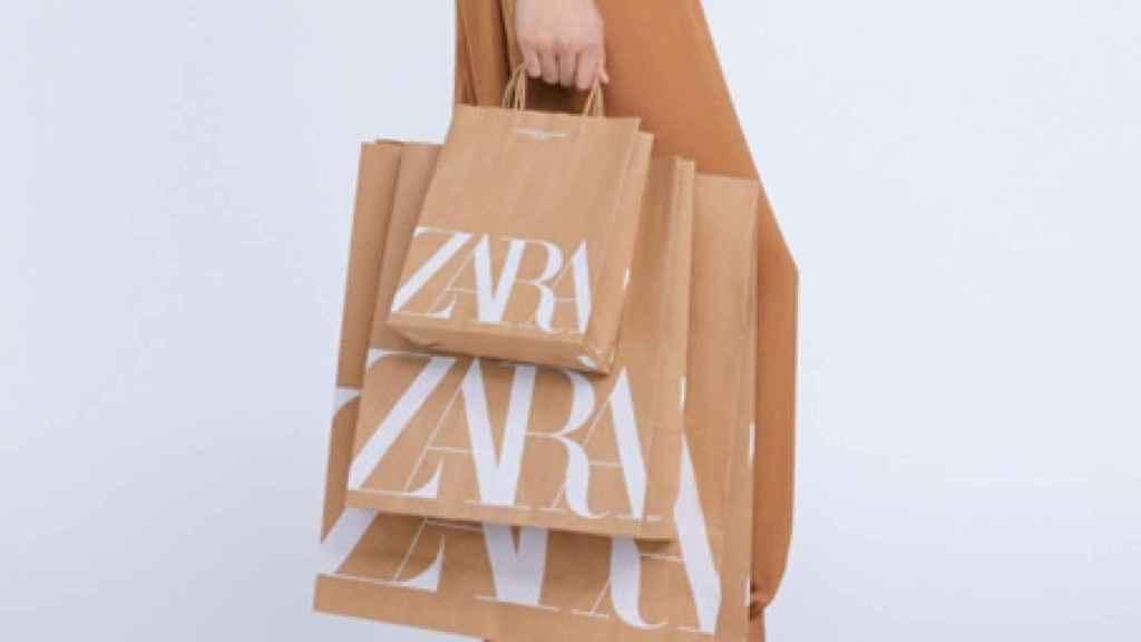 Imagen de las nuevas bolsas sostenibles de Zara.