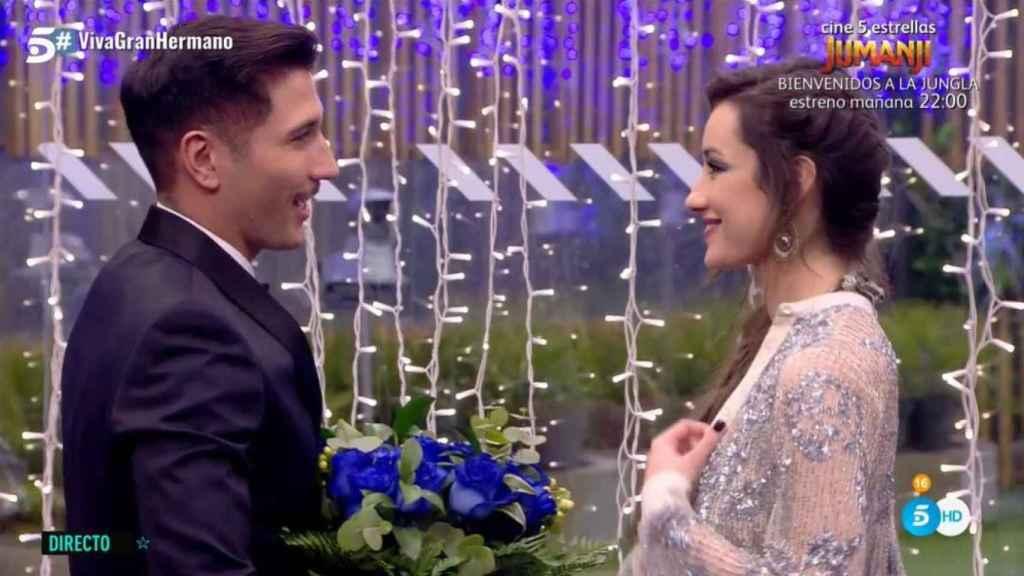Gianmarco y Adara durante su momento más romántico.