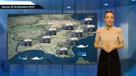 Fotograma de la predicción del tiempo de este viernes.