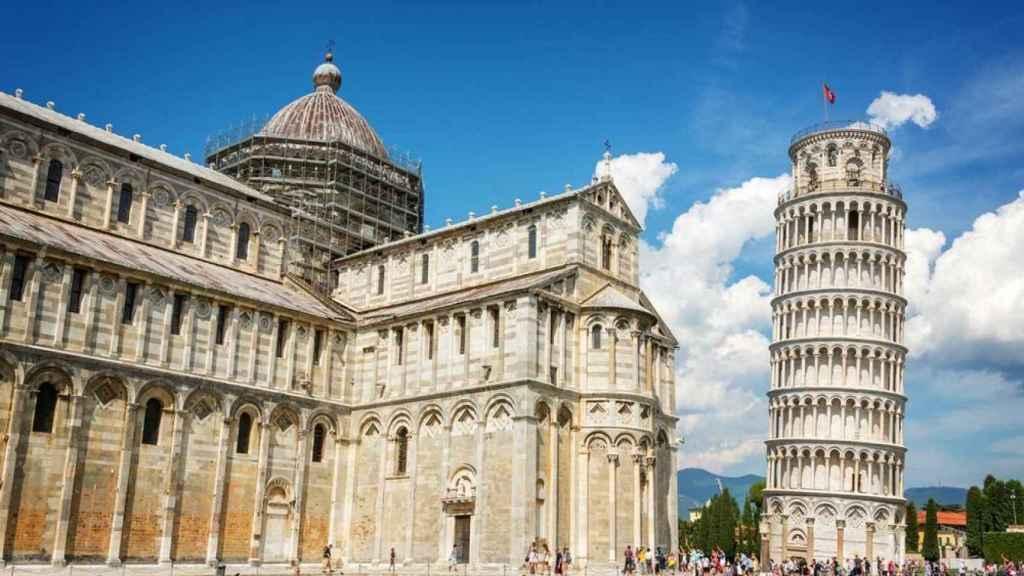 La catedral y la torre de Pisa.