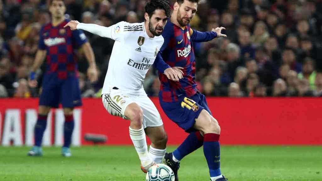 Isco y Messi, en El Clásico 2019/2020