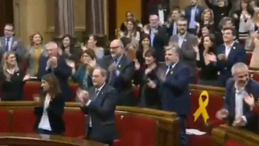Gritos de libertad en el Parlament de Cataluña
