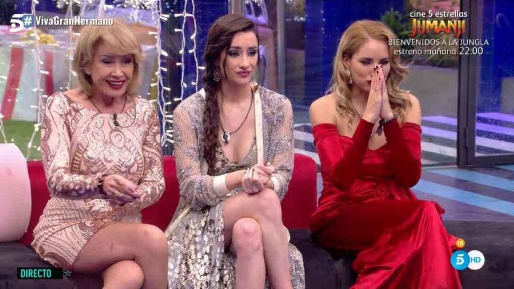 Mila Ximénez, Adara Molinero y Alba Carrillo durante la gala final.