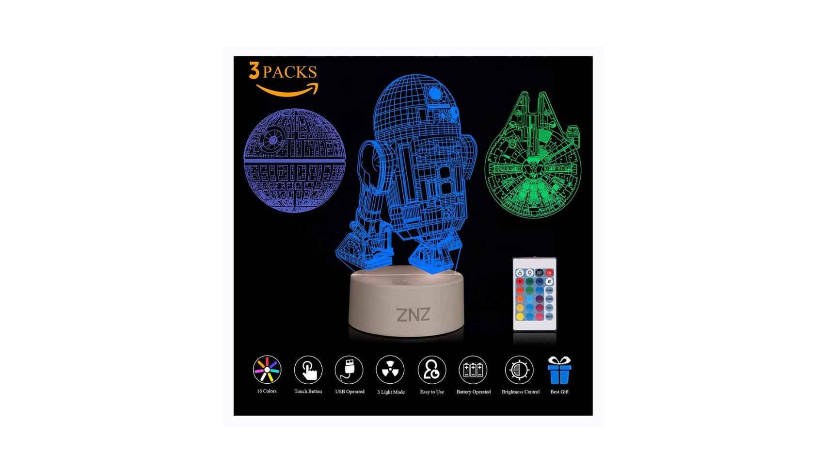 Lámpara luces 3D