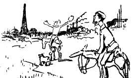 Dibujo incluido en 'A París en burro'.