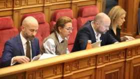 Los cuatro diputados de Ciudadanos, este jueves en las Cortes de Castilla-La Mancha