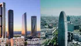 Skyline madrileño y la Torre Agbar.