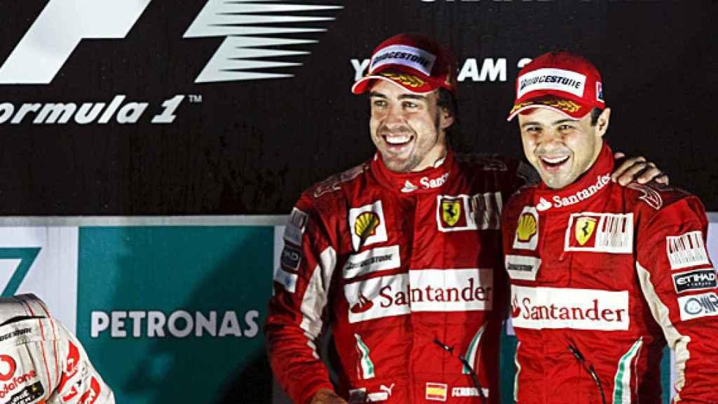 Fernando Alonso y Massa
