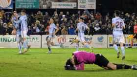 El Celta de Vigo celebra un gol en Copa