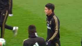 Último entrenamiento del Real Madrid antes del partido frente al Athletic