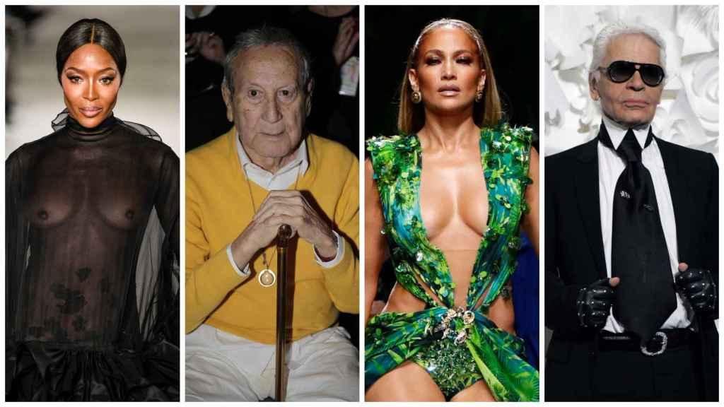 Montaje con algunos de los protagonistas del mundo de la moda este 2019.