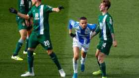 Braithwaite celebra su gol al Espanyol en Butarque