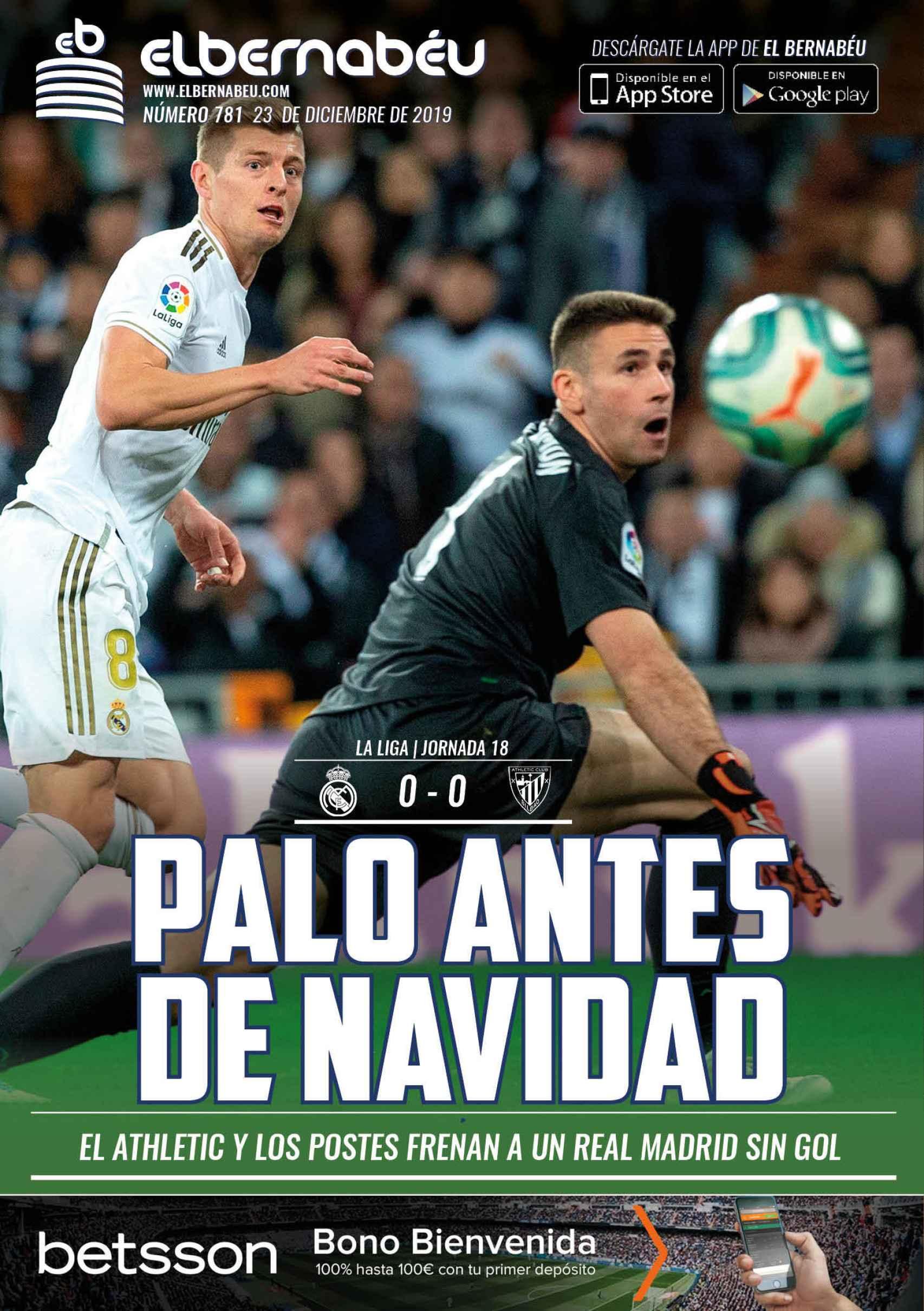 La portada de El Bernabéu (23/12/2019)