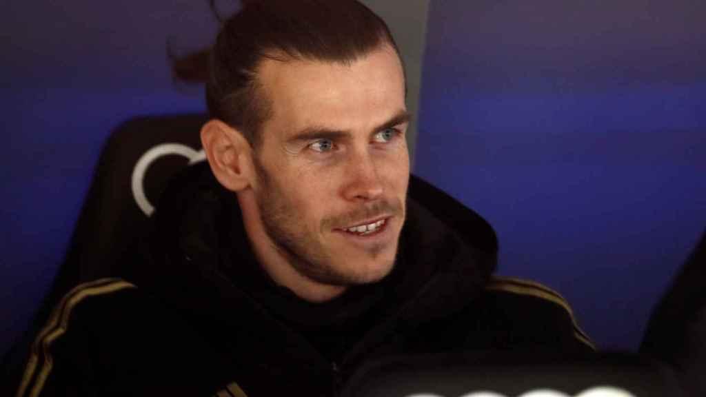 Gareth Bale, en el banquillo del Santiago Bernbéu