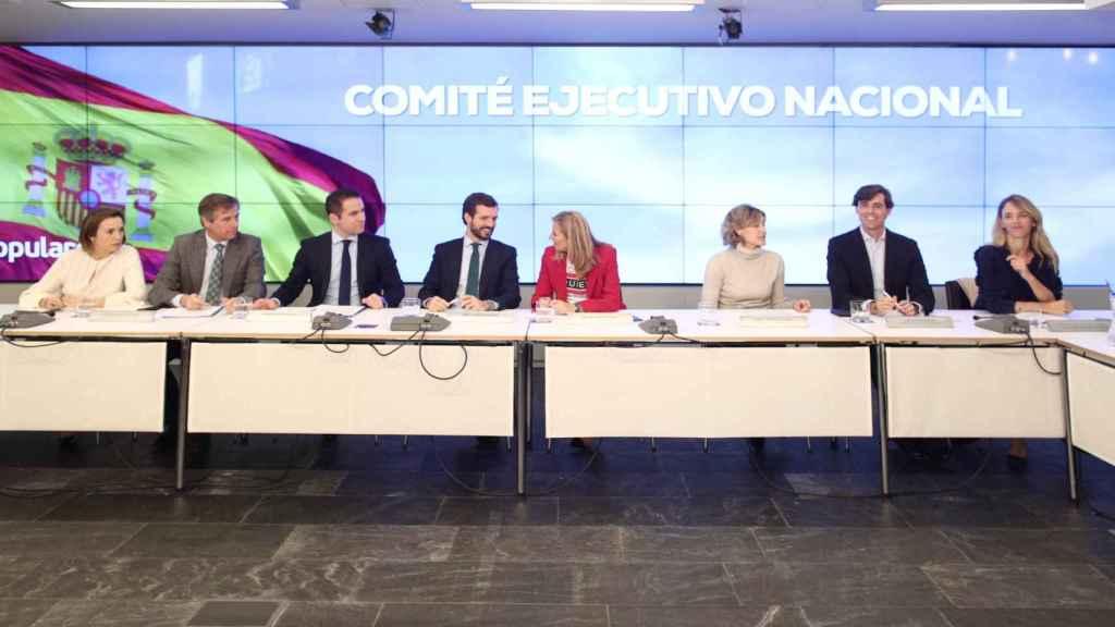 Reunión del Comité Ejecutivo Nacional del PP.