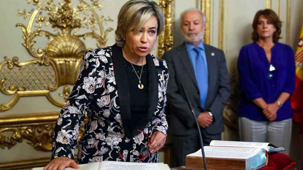 La abogada general del Estado, Consuelo Castro, durante el acto de toma de posesión de su cargo .