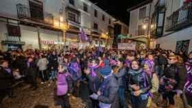 Manifestación en apoyo a la víctima de los exjudores del Arandina.