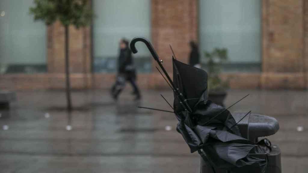 El temporal causa estragos en Madrid.