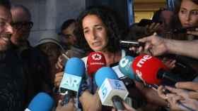 Patricia Ramírez , madre del niño Gabriel Cruz, a la salida de la Audiencia Provincial de Almería.