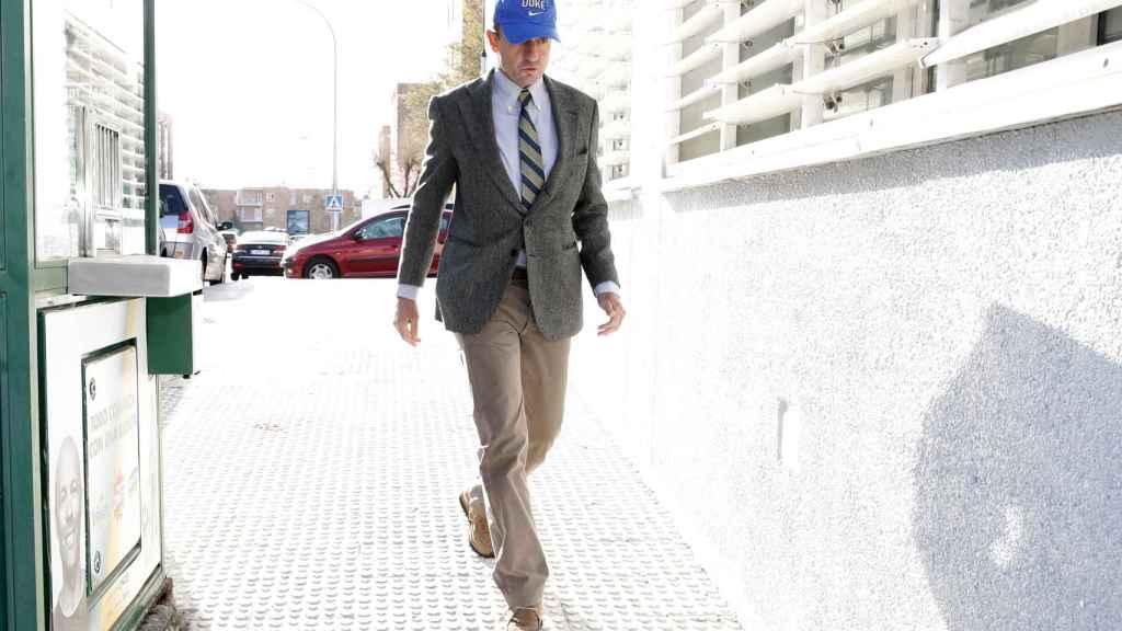 Alessandro Lequio asistiendo a un juicio en Alcobendas.