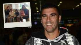 José Antonio Reyes en un montaje de JALEOS junto a una fotografía de su familia unida en Navidad.
