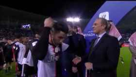 Cristiano Ronaldo y su gesto como subcampeón de la Supercopa
