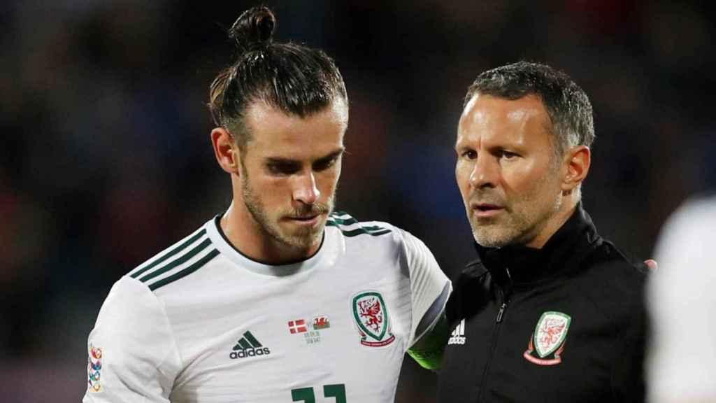Gareth Bale y Ryan Giggs