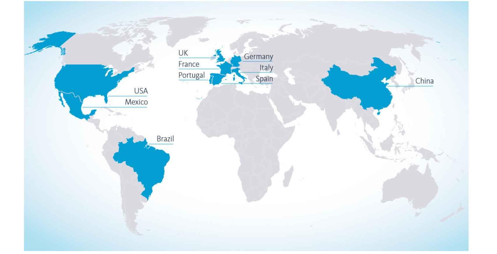 Mapa de víctimas de los ataques