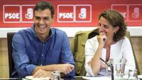 Pedro Sánchez y Teresa Ribera en una imagen de archivo.