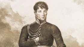 Retrato de Rafael Riego por Hippolyte Lecomte (1820).