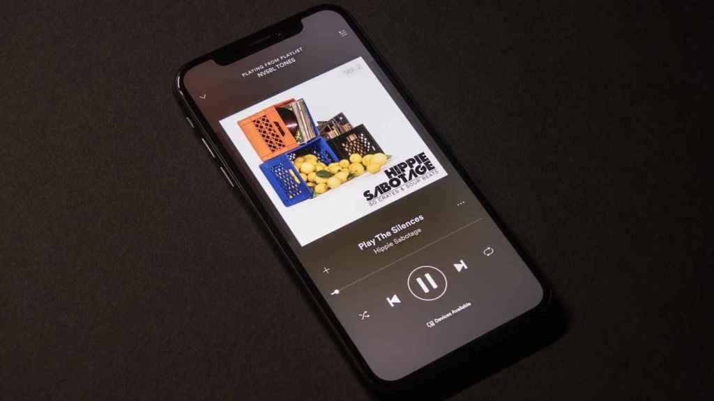 Spotify en móvil