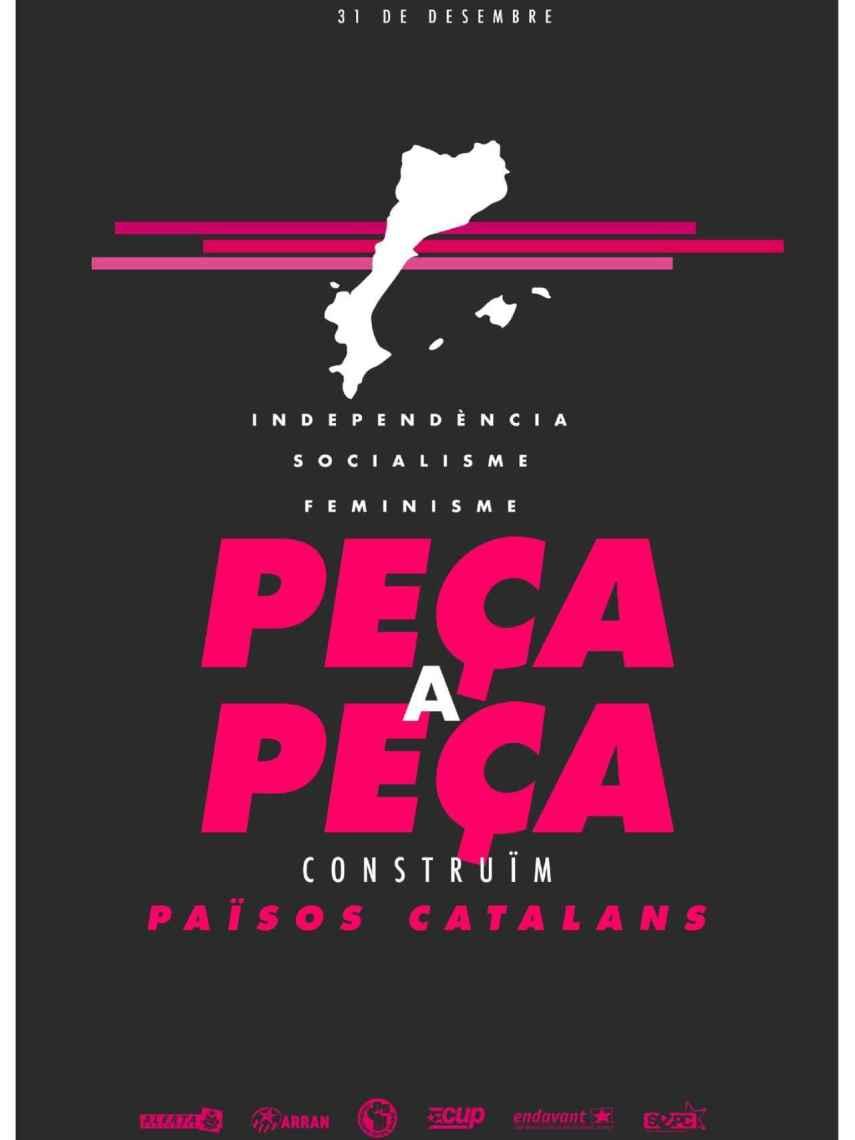 Cartel de la CUP para la manifestación  en Mallorca