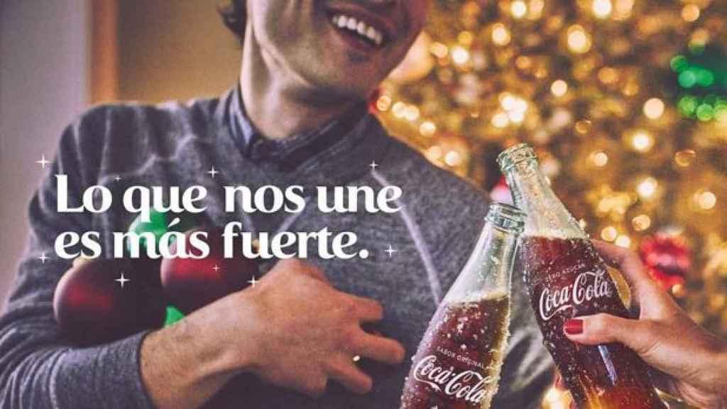 Parte de un anuncio de Coca Cola.