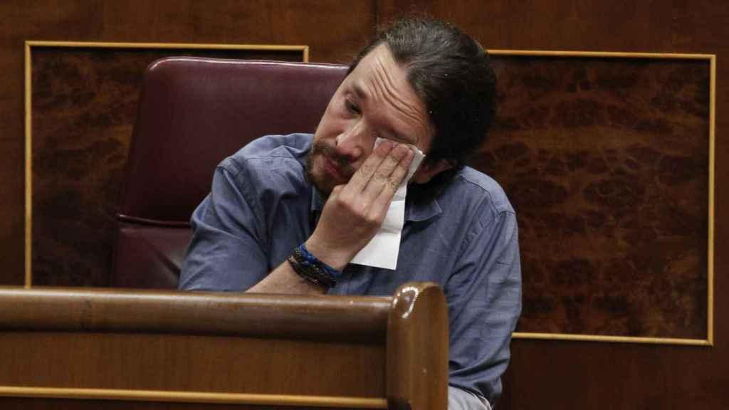 Iglesias en foto de archivo cuando rompió a llorar en el Congreso hablando de las supuestas torturas de 'Billy El Niño'