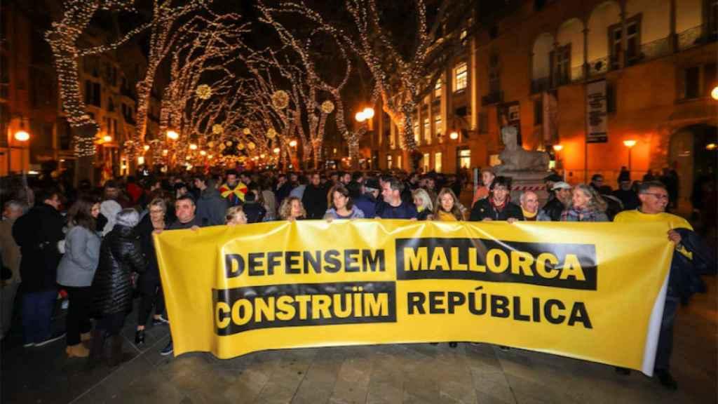Manifestación independentista en Palma con motivo de la 'Diada' de Mallorca, el año pasado..