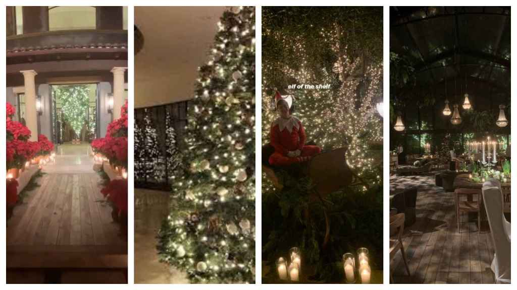 Detalles de la fiesta de Kourtney Kardashian por Navidad.