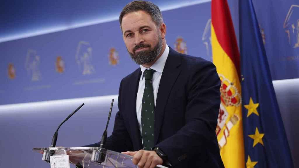 Santiago Abascal durante una conferencia el pasado mes de septiembre.