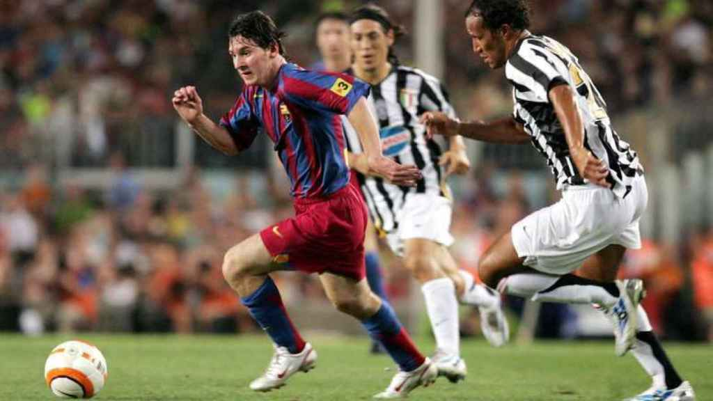 Leo Messi, en el Joan Gamper de 2005