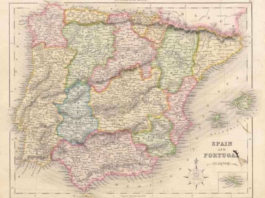 Mapa de España en 1841.