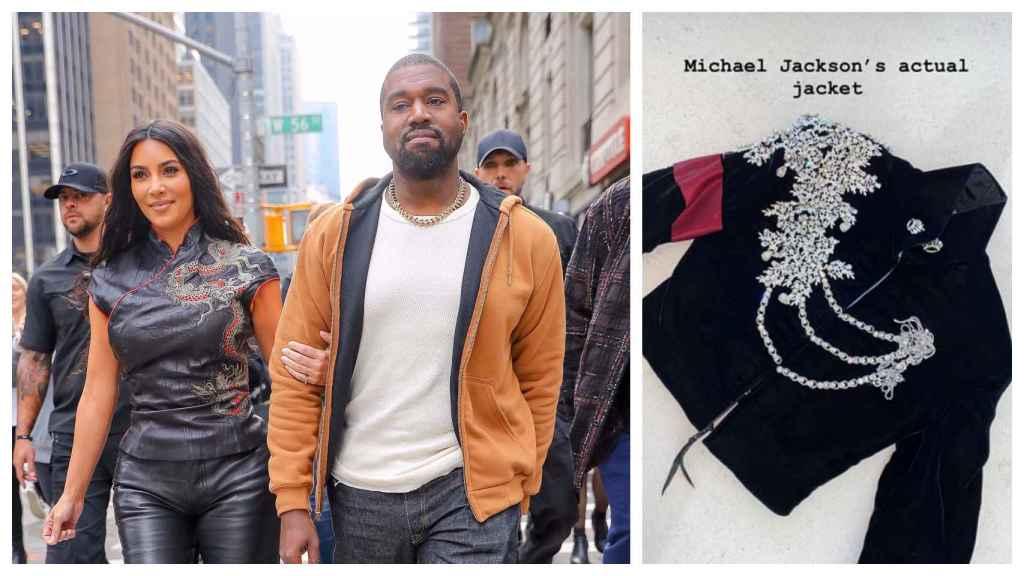 Kim Kardashian y Kanye West le han regalado una chaqueta de Michael Jackson valorada en 60.000 euros.