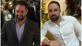A la izquierda, Santiago Abascal el pasado mes de noviembre; a la derecha, el actual.