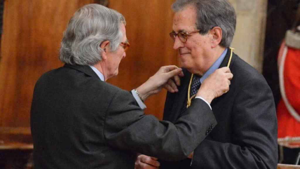 Romà Cuyás (derecha), expresidente del Comité Olímpico Español