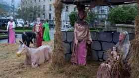 El belén extraño Nacimiento que se ha colocado en la ciudad gallega