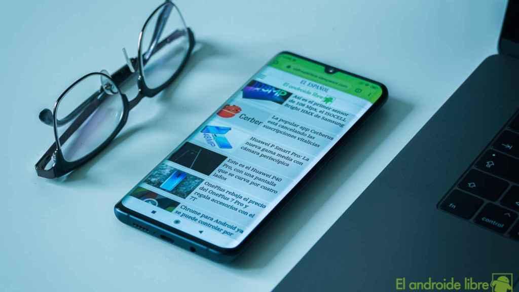 Navegador Chrome en un móvil Android