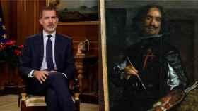 Felipe VI y el pintor Velázquez.