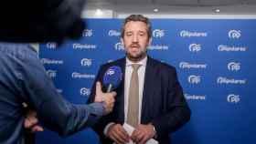 El vicesecretario de Participación del PP, Jaime de Olano, atiende a los medios.